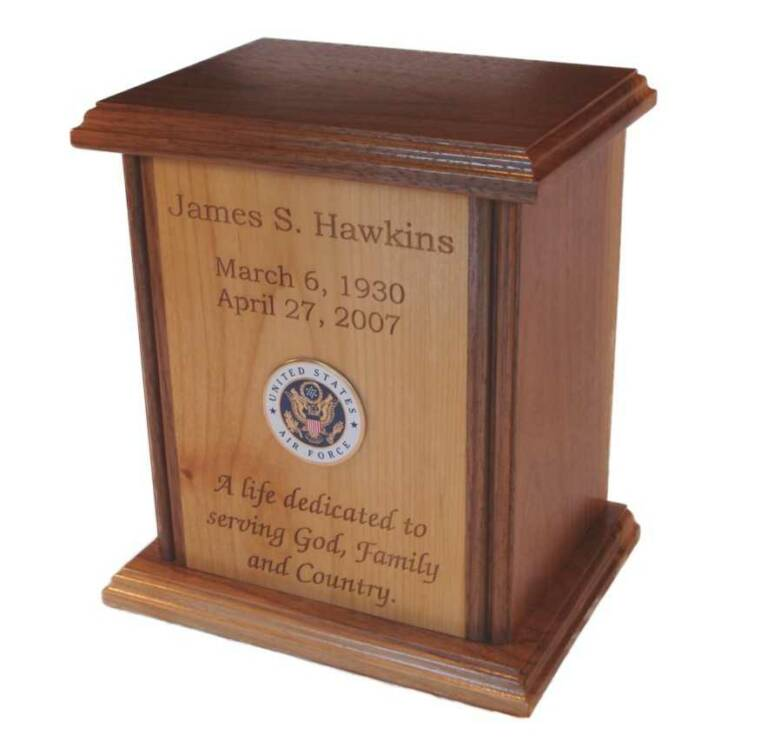 Human Cremation Urn with Laser Engraving